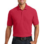 Port Authority Mens Core Classic Short Sleeve Polo Shirt w/ Pocket - Rich Red
