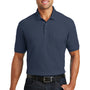Port Authority Mens Core Classic Short Sleeve Polo Shirt w/ Pocket - River Navy Blue
