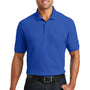 Port Authority Mens Core Classic Short Sleeve Polo Shirt w/ Pocket - True Royal Blue