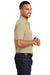 Port Authority K100P Mens Core Classic Short Sleeve Polo Shirt w/ Pocket Wheat Side