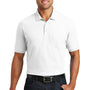 Port Authority Mens Core Classic Short Sleeve Polo Shirt w/ Pocket - White