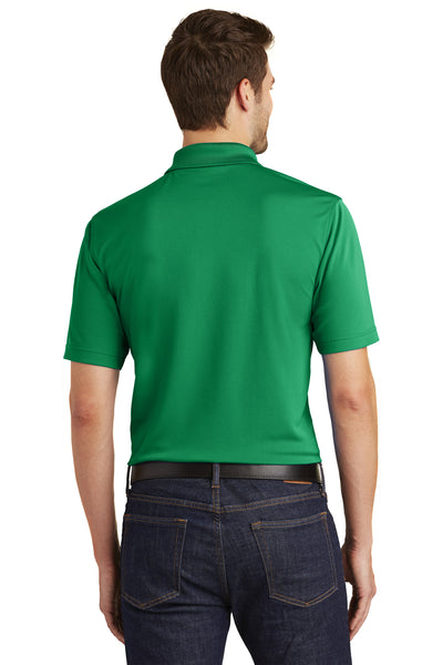Port Authority K110 Mens Dry Zone Moisture Wicking Short Sleeve Polo Shirt Kelly Green Back