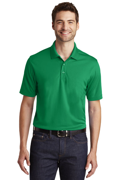 Port Authority K110 Mens Dry Zone Moisture Wicking Short Sleeve Polo Shirt Kelly Green Front