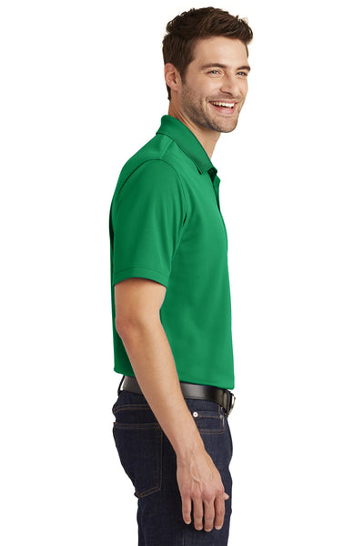Port Authority K110 Mens Dry Zone Moisture Wicking Short Sleeve Polo Shirt Kelly Green Side