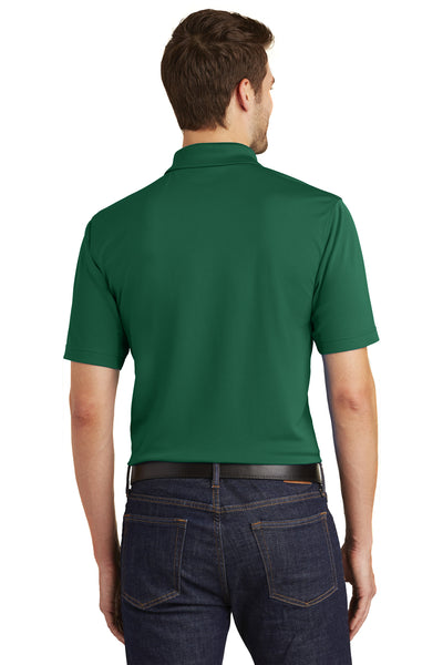 Port Authority K110 Mens Dry Zone Moisture Wicking Short Sleeve Polo Shirt Forest Green Back