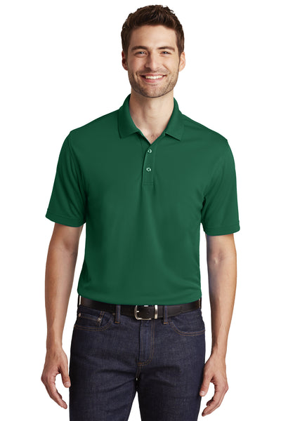 Port Authority K110 Mens Dry Zone Moisture Wicking Short Sleeve Polo Shirt Forest Green Front