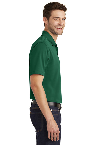 Port Authority K110 Mens Dry Zone Moisture Wicking Short Sleeve Polo Shirt Forest Green Side