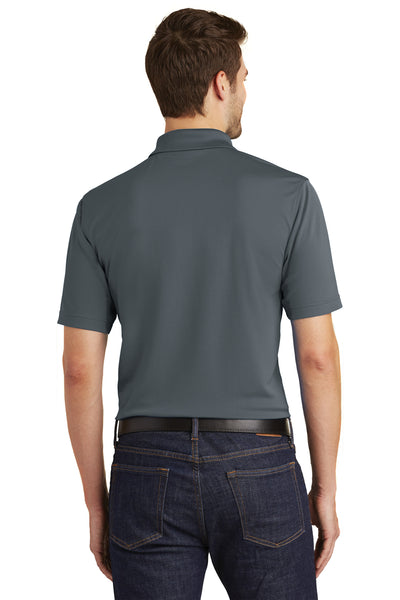 Port Authority K110 Mens Dry Zone Moisture Wicking Short Sleeve Polo Shirt Graphite Grey Back