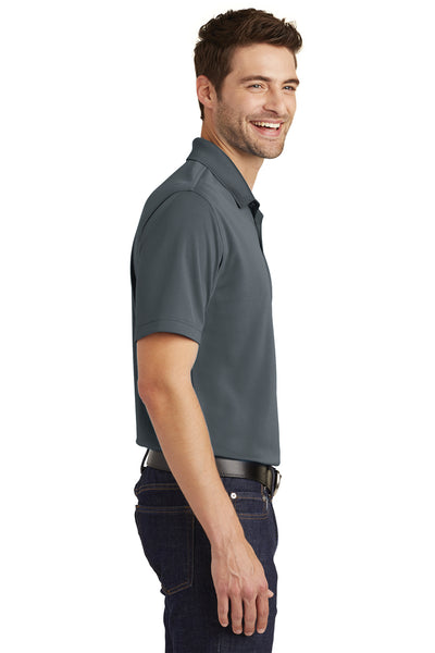 Port Authority K110 Mens Dry Zone Moisture Wicking Short Sleeve Polo Shirt Graphite Grey Side