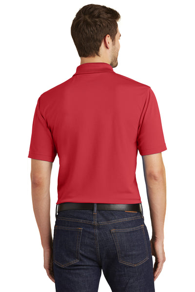 Port Authority K110 Mens Dry Zone Moisture Wicking Short Sleeve Polo Shirt Red Back