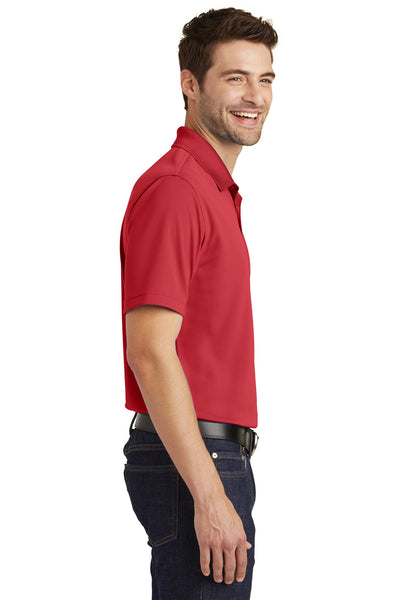Port Authority K110 Mens Dry Zone Moisture Wicking Short Sleeve Polo Shirt Red Side