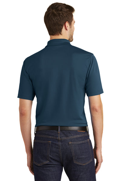 Port Authority K110 Mens Dry Zone Moisture Wicking Short Sleeve Polo Shirt Navy Blue Back
