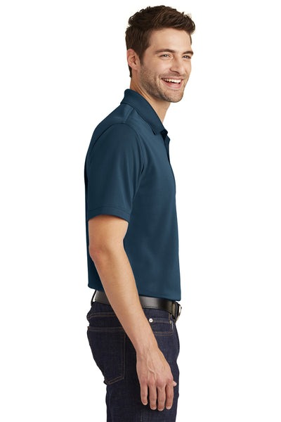 Port Authority K110 Mens Dry Zone Moisture Wicking Short Sleeve Polo Shirt Navy Blue Side