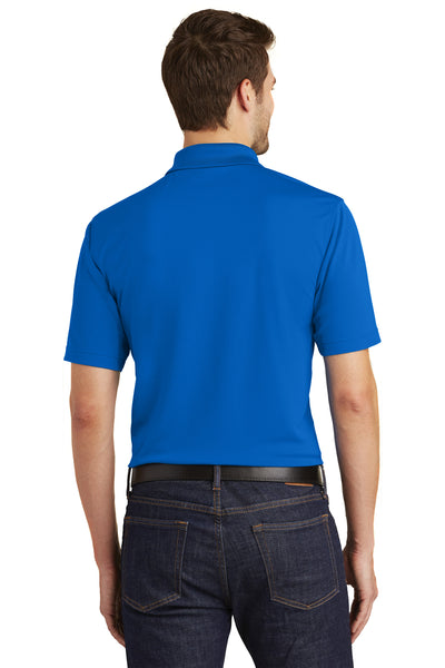Port Authority K110 Mens Dry Zone Moisture Wicking Short Sleeve Polo Shirt Royal Blue Back