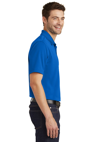 Port Authority K110 Mens Dry Zone Moisture Wicking Short Sleeve Polo Shirt Royal Blue Side