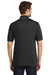 Port Authority K111 Mens Dry Zone Moisture Wicking Short Sleeve Polo Shirt Black/Graphite Grey Back