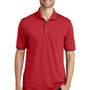 Port Authority Mens Dry Zone Moisture Wicking Short Sleeve Polo Shirt - Rich Red/Deep Black