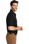 Port Authority K164 Mens SuperPro Moisture Wicking Short Sleeve Polo Shirt Black Side