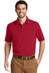 Port Authority K164 Mens SuperPro Moisture Wicking Short Sleeve Polo Shirt Red Front