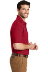 Port Authority K164 Mens SuperPro Moisture Wicking Short Sleeve Polo Shirt Red Side