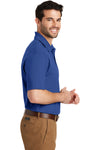 Port Authority K164 Mens SuperPro Moisture Wicking Short Sleeve Polo Shirt Blue Side