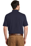 Port Authority K164 Mens SuperPro Moisture Wicking Short Sleeve Polo Shirt Navy Blue Back