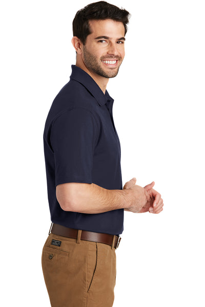 Port Authority K164 Mens SuperPro Moisture Wicking Short Sleeve Polo Shirt Navy Blue Side