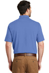 Port Authority K164 Mens SuperPro Moisture Wicking Short Sleeve Polo Shirt Ultramarine Blue Back