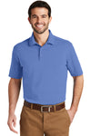 Port Authority K164 Mens SuperPro Moisture Wicking Short Sleeve Polo Shirt Ultramarine Blue Front