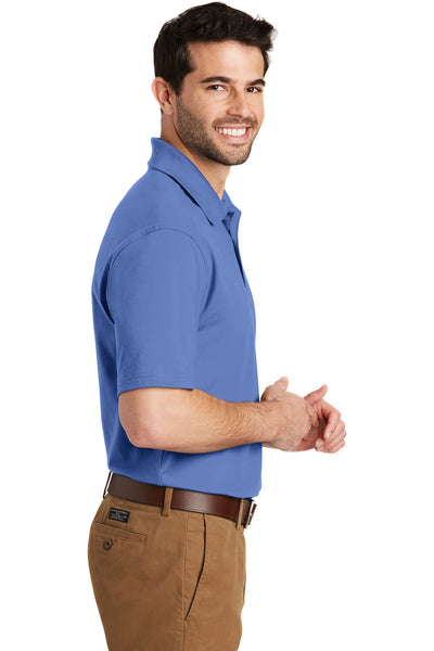 Port Authority K164 Mens SuperPro Moisture Wicking Short Sleeve Polo Shirt Ultramarine Blue Side