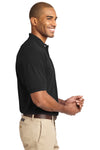 Port Authority K420 Mens Short Sleeve Polo Shirt Black Side