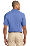 Port Authority K420 Mens Short Sleeve Polo Shirt Blueberry Back