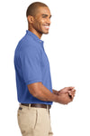 Port Authority K420 Mens Short Sleeve Polo Shirt Blueberry Side