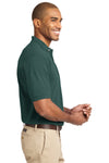 Port Authority K420 Mens Short Sleeve Polo Shirt Dark Green Side