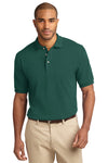 Port Authority K420 Mens Short Sleeve Polo Shirt Forest Green Front