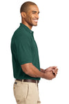 Port Authority K420 Mens Short Sleeve Polo Shirt Forest Green Side