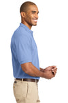 Port Authority K420 Mens Short Sleeve Polo Shirt Light Blue Side