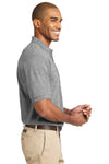Port Authority K420 Mens Short Sleeve Polo Shirt Oxford Grey Side