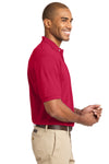 Port Authority K420 Mens Short Sleeve Polo Shirt Red Side