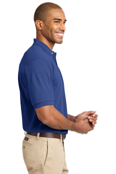 Port Authority K420 Mens Short Sleeve Polo Shirt Royal Blue Side