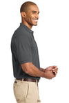 Port Authority K420 Mens Short Sleeve Polo Shirt Steel Grey Side