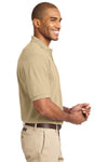 Port Authority K420 Mens Short Sleeve Polo Shirt Stone Brown Side