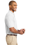 Port Authority K420 Mens Short Sleeve Polo Shirt White Side