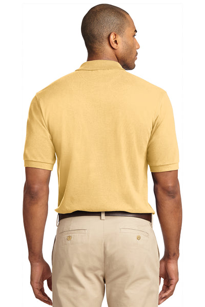Port Authority K420 Mens Short Sleeve Polo Shirt Yellow Back