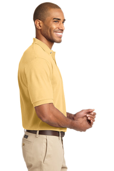 Port Authority K420 Mens Short Sleeve Polo Shirt Yellow Side
