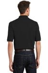 Port Authority K420P Mens Short Sleeve Polo Shirt w/ Pocket Black Back