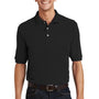 Port Authority Mens Short Sleeve Polo Shirt w/ Pocket - Black