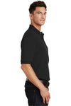 Port Authority K420P Mens Short Sleeve Polo Shirt w/ Pocket Black Side