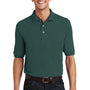 Port Authority Mens Short Sleeve Polo Shirt w/ Pocket - Dark Green