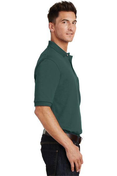 Port Authority K420P Mens Short Sleeve Polo Shirt w/ Pocket Dark Green Side